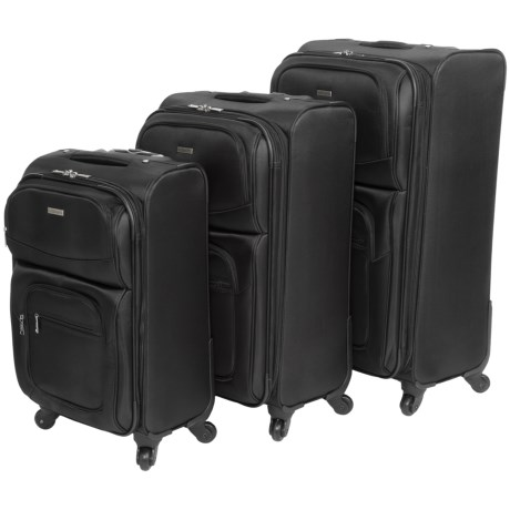 "G.H. Bass & Co. Westport 3-Piece Spinner Suitcase Set - 21"", 25"", 29"""