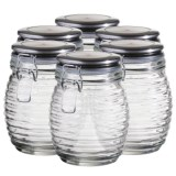 Global Amici Beehive Glass Canisters - Medium, Set of 6