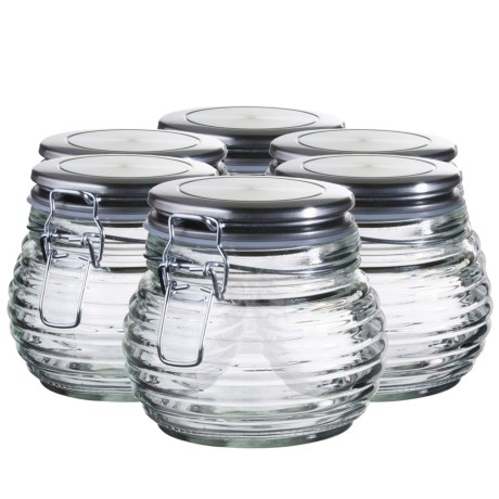 Global Amici Beehive Glass Canisters - Small, Set of 6