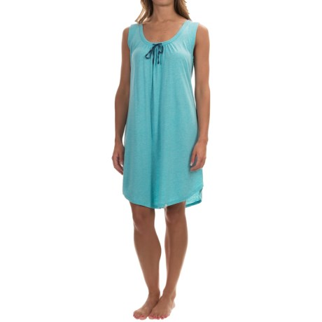Lucky Brand Knit-Trim Nightgown - Sleeveless (For Women)