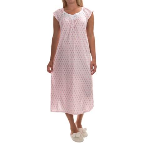 Carole Hochman Jersey-Knit Long Nightgown - Short Sleeve (For Women)