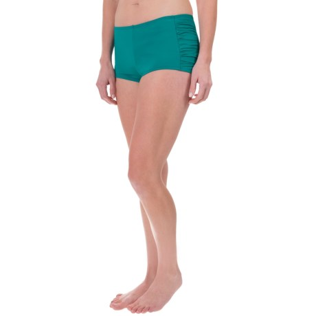 Tommy Bahama Pearl Side-Shirred Swim Shorts - UPF 50+ (For Women)