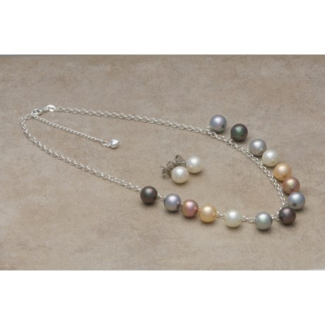 Joia de Majorca Necklace and Earring Set - 10 mm Organic Pearls