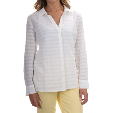 Tommy Bahama Shadow Striped Shirt - Semi Sheer, Long Sleeve (For Women)