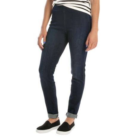 Miraclebody by Miraclesuit Thelma Stretch-Denim Leggings - Mid Rise, Elastic Waist (For Women)