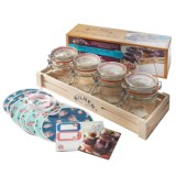 Kilner Clip-Top Jar Set with Wooden Crate - 12 oz., 31-Piece