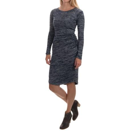 Philosophy Knit Side-Shirred Dress - Long Sleeve (For Women)