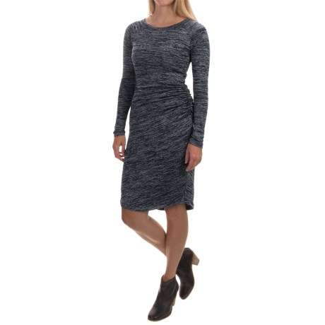 Philosophy Knit Side-Shirred Dress - Long Sleeve (For Women)