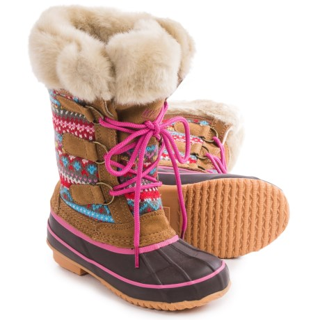 Khombu Nana Sweater Snow Boots - Insulated (For Little and Big Girls)