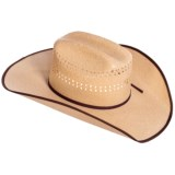 Bailey of Hollywood Brock Woven Straw Cowboy Hat (For Men and Women)