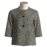 Louben Tweed Blazer - 3/4 Sleeve (For Women)