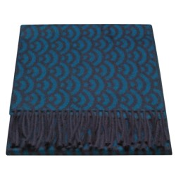 Johnstons of Elgin Positive to Negative Scarf - Woven Cashmere (For Women)