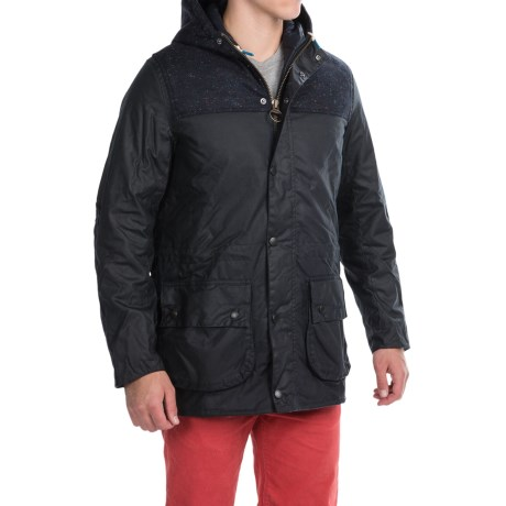 Barbour Tweed Durham Waxed-Cotton Jacket - Insulated