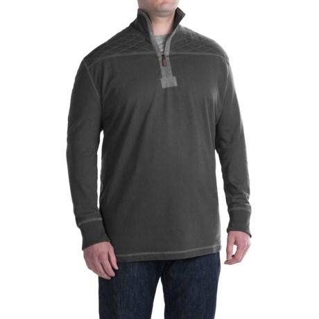 G.H. Bass & Co. Mountain Fleece Sweatshirt - Zip Neck (For Big and Tall Men)
