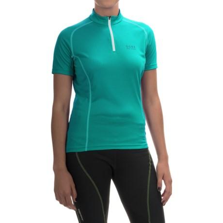 Gore Bike Wear Contest Cycling Jersey - Zip Neck, Short Sleeve (For Women)