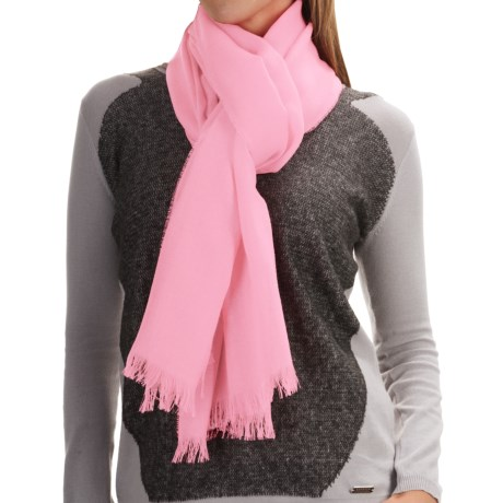Johnstons of Elgin Light-as-Air Cashmere Scarf (For Women)