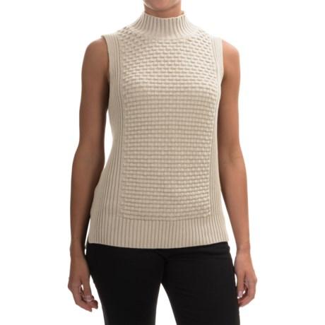Premise Studio Mock Neck Sweater - Sleeveless (For Women)