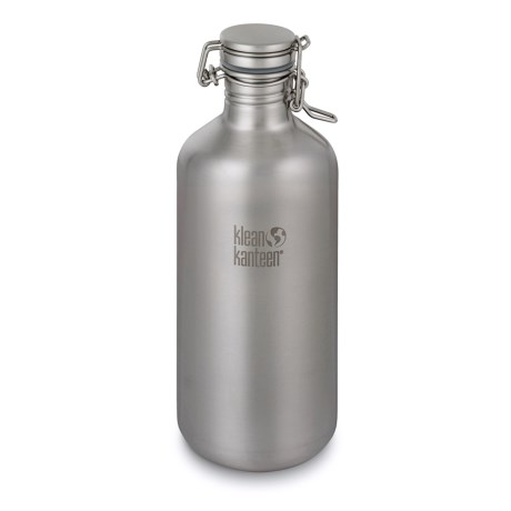 Klean Kanteen Growler Bottle - 64 fl.oz., Stainless Steel