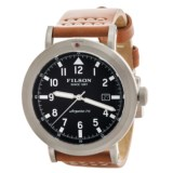 Filson Scout Blue Dial Watch - Bridle Leather Strap (For Men)