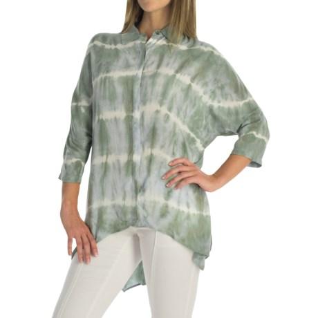 XCVI Hailey Voile Blouse - Hidden-Button Front, 3/4 Dolman Sleeve (For Women)