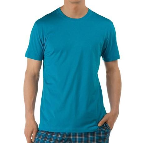 Calida Remix Basic T-Shirt - Single Cotton Jersey, Short Sleeve (For Men)