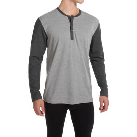 Calida Remix Henley Pajama Shirt - Long Sleeve (For Men)