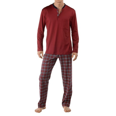 Calida Family Time Pajamas - Heavy Interlock Cotton, Long Sleeve (For Men)