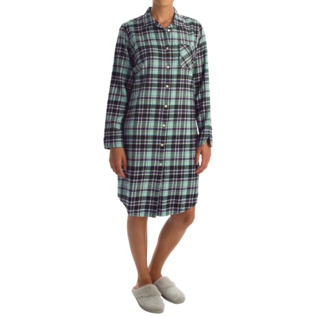 Woolrich First Light Flannel Nightshirt - Long Sleeve (For Women)
