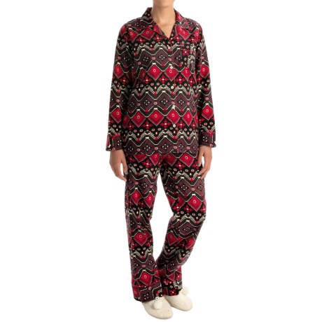 Woolrich 300 Park Printed Flannel Pajamas - Long Sleeve (For Women)