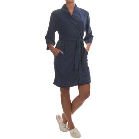 Jockey Bohemian Garden Terry Wrap Robe - 3/4 Sleeve (For Women)