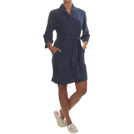 Jockey Bohemian Garden Terry Wrap Robe - 3/4 Sleeve (For Women)
