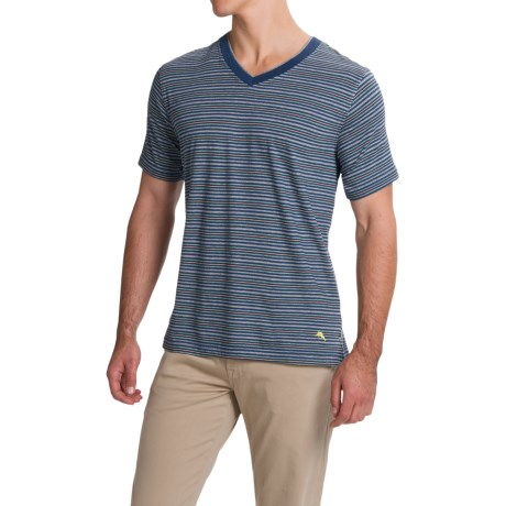 Tommy Bahama Feeder Stripe T Shirt - V-Neck, Short Sleeve (For Men)
