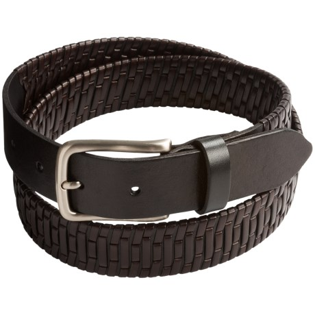 Tommy Bahama Island Grid Leather Belt (For Men)