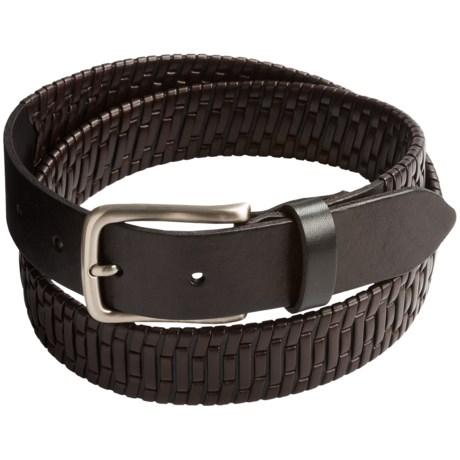 Tommy Bahama Island Grid Leather Belt (For Men)