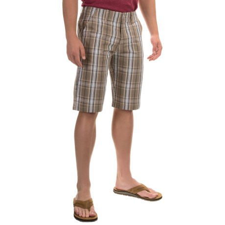 OTB Plaid Flat-Front Shorts - Cotton Blend (For Men)