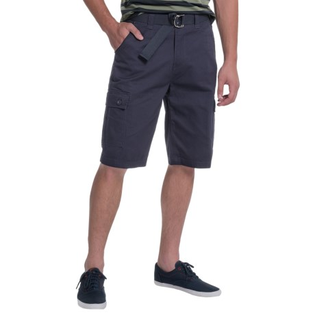 OTB Belted Solid Cargo Shorts (For Men)