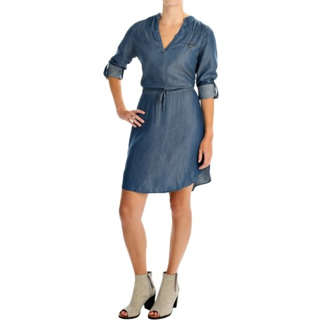 4OUR Dreamers Chambray Drawstring Shirtdress - TENCEL®, Long Sleeve (For Women)
