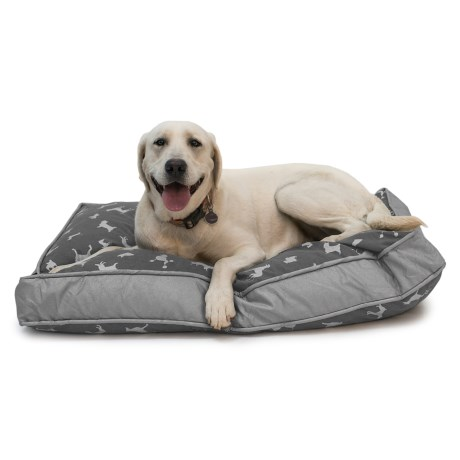 Humane Society Printed Rectangle Dog Bed - Extra Large, 40x28""