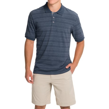 Weatherproof Vintage Jacquard Polo Shirt - Short Sleeve (For Men)