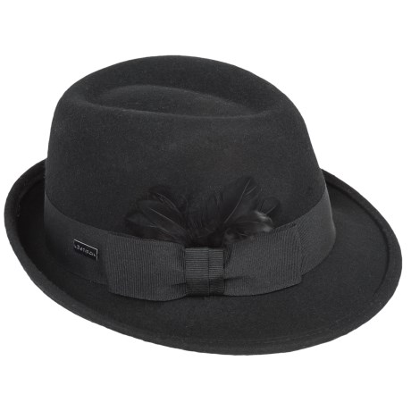 Betmar Celine Fedora - Wool, Pinch Front (For Women)