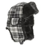 Betmar Plaid Faux-Fur Trapper Hat (For Women)
