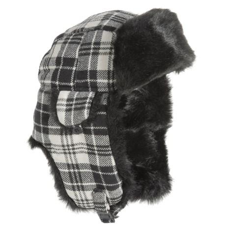 Betmar Plaid Faux-Fur Trapper Hat (For Women)