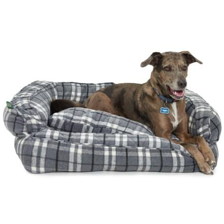 "Telluride Marty Yarn-Dye Bolster Dog Bed - Large, 36x27"""