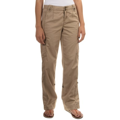 Roll-Tab Cargo Pants (For Women)