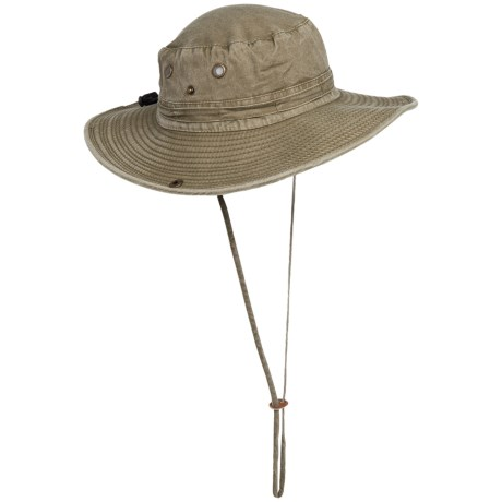 Dorfman Pacific Pigment-Dyed Twill Trail Boonie Hat (For Men and Women)