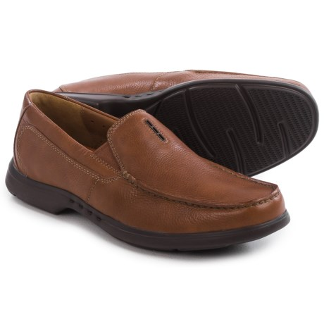 Clarks Uneasley Twin Leather Loafers (For Men)