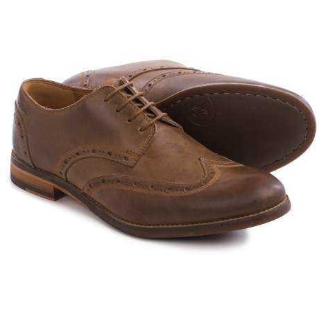 Clarks Exton Brogue Oxford Shoes -Suede, OrthoLite® (For Men)