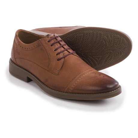 Clarks Garren Oxford Shoes - Leather, Cap Toe (For Men)