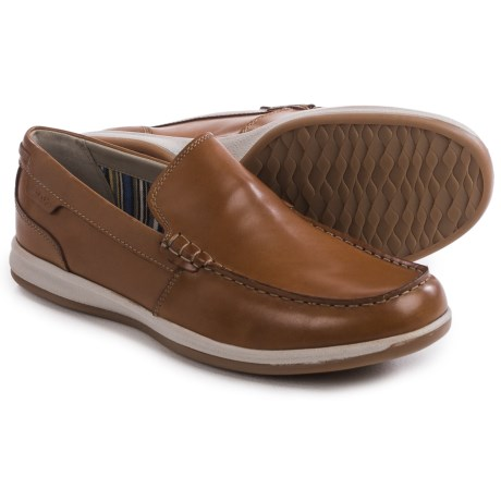 Clarks Fallston Step Shoes - Leather, Slip-Ons (For Men)