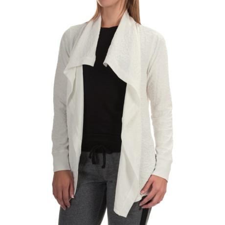 Jockey Textured Jacquard Wrap Cardigan Sweater (For Women)